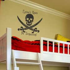 Personalized Skull and Swords Wall Decal