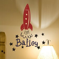 Personalized Bailey's Rocket Wall Decal