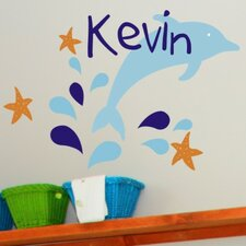 Personalized Dolphin Delight Wall Decal