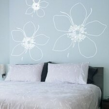 Big Flower Wall Decal (Set of 3)