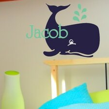 Personalized Jacob's Whale Wall Decal