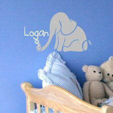 Personalized Logan's Elephant Wall Decal
