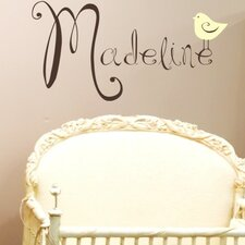 Personalized Cute Birdie Wall Decal