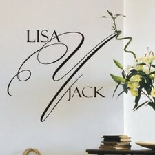 Personalized Delightful Monogram Wall Decal