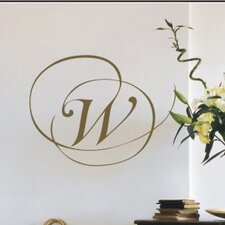 Personalized Script Monogram Wall Decal