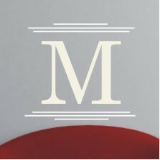 Personalized Majestic Monogram Wall Decal