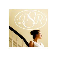 Personalized Oval Monogram Wall Decal