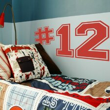 Personalized Varsity Numbers Wall Decal