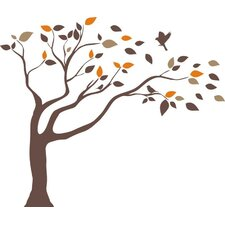 Windblown Tree Wall Decal