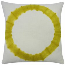 Dye Chartreuse Cotton Throw Pillow