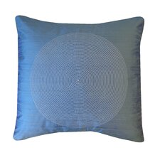 Spiral Silk Throw Pillow