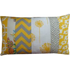 Zebra Pieces Daisy Cotton Lumbar Pillow