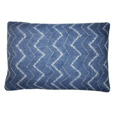 Tie Dye Denim Cotton Lumbar Pillow