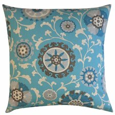 Rose Cotton Throw Pillow