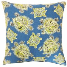Turtle Cotton Throw Pillow