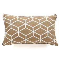 Bethe Tile Linen Lumbar Pillow