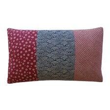 Kioto Fan Diamond Eye Cotton Lumbar Pillow