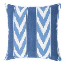 Ikat Stripe Outdoor Throw Pillow