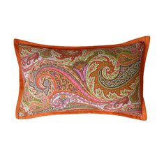 Paisley Cotton Lumbar Pillow