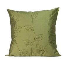 Leaves Silk Throw Pillow