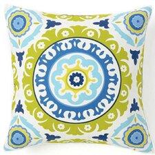 Suzani Henna Silk Throw Pillow