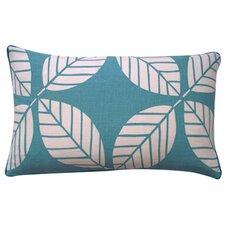 Tiki Leaves Linen Lumbar Pillow