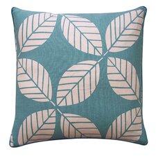 Tiki Leaves Linen Throw Pillow