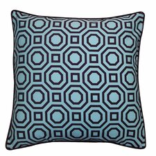 Labyrinth Cotton Throw Pillow