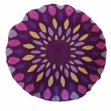 Iris Embroidered Cotton Throw Pillow