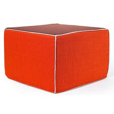 Rebel Window Ottoman in Orange and Chocolate