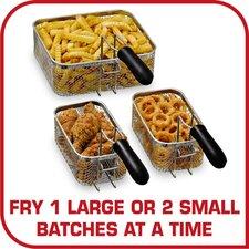 4 Liter Deep Fryer with Triple-Basket