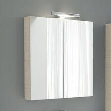 Light Y 2 Door Mirror Cabinet White Larch