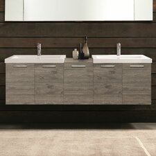 "69"" Double Modern Bathroom Vanity Set"