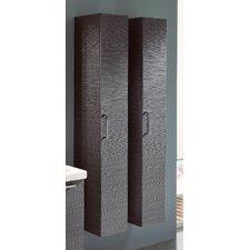 "Light 1 Medicine Column Cabinet Brown Larch (63.5"" tall)"