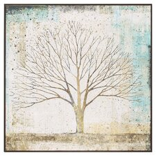 Solitary Tree Collage Framed Graphic Art