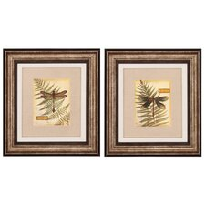 Dragonfly III and IV Framed Painting Print (Set of 2)