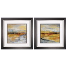 Silver River 2 Piece Framed Painting Print Set