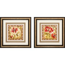 "Floral III and IV Graphic Art Set - 24"" x 24"""