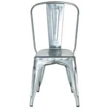 Industrial Metal Side Chair Stackable