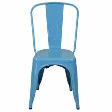 Industrial Metal Side Chair Stackable
