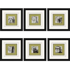 Postage by Navas 6 Piece Framed Graphic Art Set (Set of 6)
