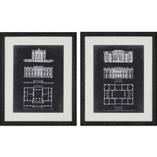 Graphic Buildings II by Gibbs 2 Piece Framed Graphic Art Set