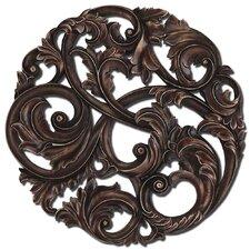 Aged Leaf Swirl Wall Décor