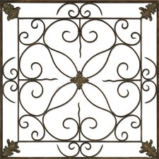 Aged Floral Panel Wall Décor