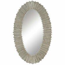 Silver Straws Wall Mirror
