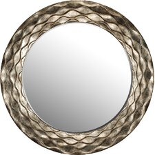 Round Waves Wall Mirror