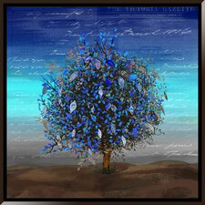 Blue Tree Framed Graphic Art