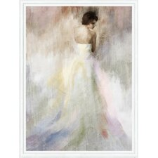 Woman in White Framed Painting Print on Canvas