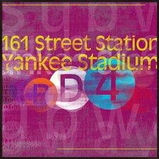 Yankee Stadium Framed Textual Art