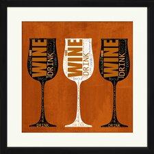 Wine Glasses Framed Graphic Art